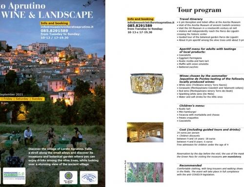 ART, WINE & LANDSCAPE 8 August – 10 September 2021 Tour program